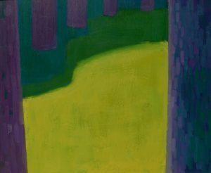 Zeedijk, olieverf op paneel, 62x74 cm
