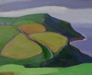 Lands End, Zuid Engeland, olieverf op paneel, 62x74 cm