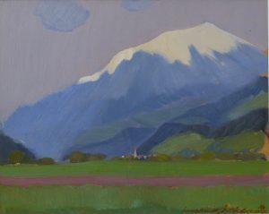 51. Innsbruck, olieverf op paneel, 37x45 cm