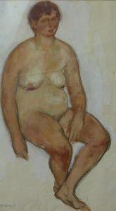 27. Vrouwelijk naakt, tekening op papier, 37x65 cm
